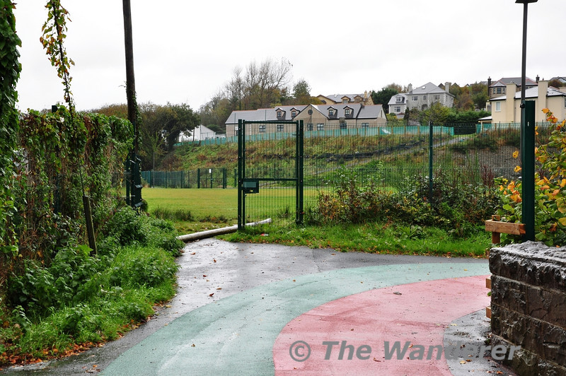 The Great Western Greenway in Westport. The Greenway takes a detour off the railway alignment to skirt around a playing field. Sat 02.11.13