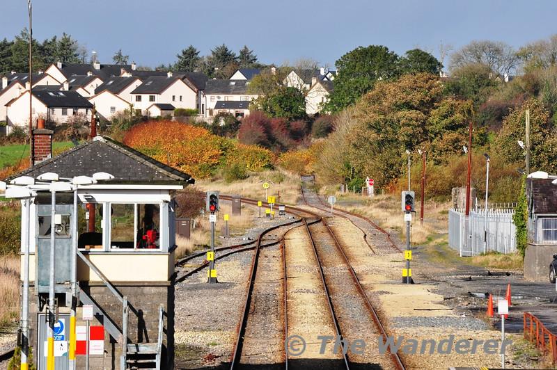 Claremorris Station. The line straight is the former line to Sligo. Fri 01.11.13