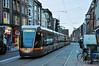 3003 + 3017 proceed at caution on Lower Abbey Street bound for Red Cow Depot. Tues 19.11.13