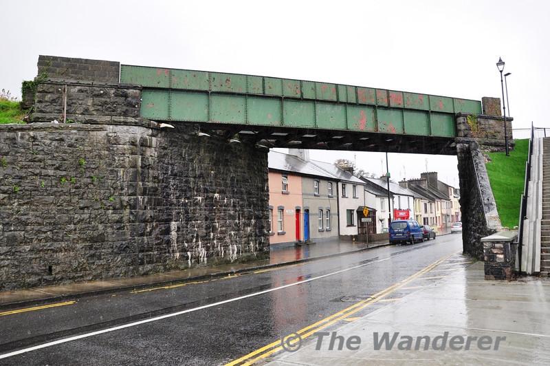 This bridge carried the Westport to Achill railway line over Altmount Street in Wesport. Sat 02.11.13