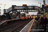 22060 and 22055 cross each other at Tullamore in the fading light. 22060 was the 1535 Heuston - Galway, while 22055 was working the 1505 Galway - Heuston. Wed 20.11.13