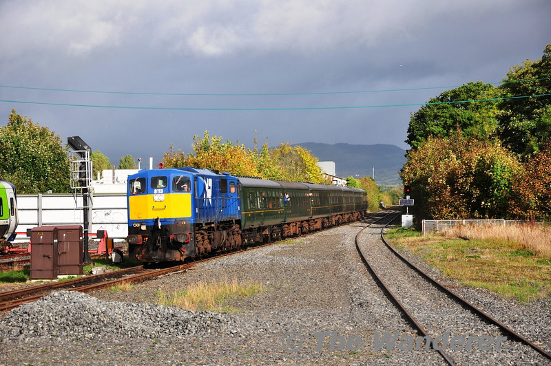 The 1010 Belfast Central - Dundalk RPSI Across the Tracks Special arrives at its destination with NI Railways 8113. Sun 20.10.13