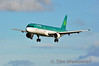 One of Aer Lingus three A321's EI-CPH lands at Dublin  with EI461 from Catania. Sun 20.10.13