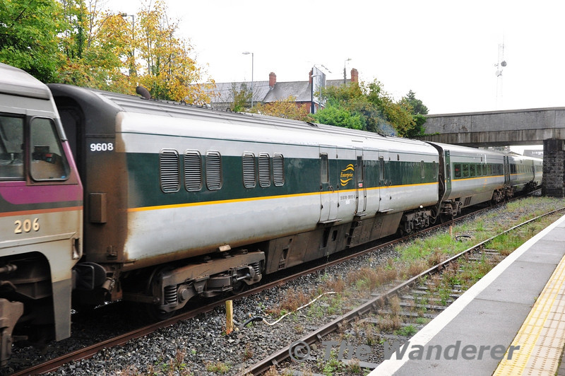 MKIII EGV 89613 is the only MKIII Van in service at the moment. It is pictured in the formation of the 1000 Belfast Centrale - Dublin Connolly. NI Railways have also appeared to have renumbered the vehicle to 9608, which makes no sense whatsoever! Sun 20.10.13