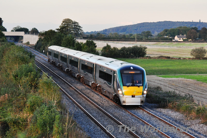 22032 at Carn Bridge with the 1705 Heuston - Tralee. Tues 15.10.13