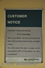 Customer Information Notice at Killiney informing Customers of the 2-3-4 car stop boards. Tues 10.09.13