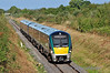 22009 + 22018 pass Ballyavill, near Geashill, with the 0850 Westport - Heuston G.A.A. Special. Sun 22.09.13