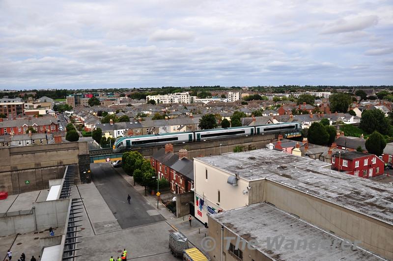22024 crosses St. Joesph's Avenue bridge at Croke Park. 1600 Connolly - Sligo. Sun 01.09.13