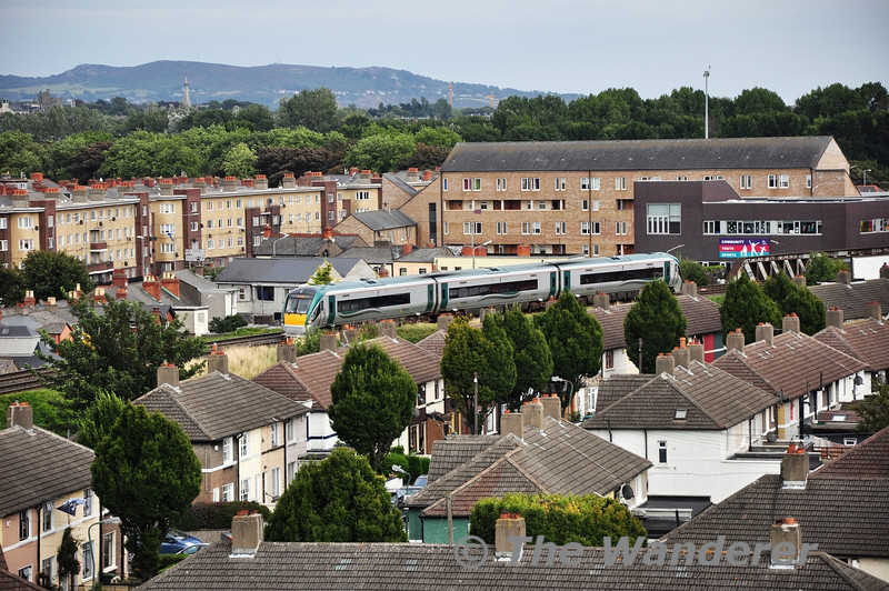 22024 is pictured from the Cusack Stand of Croke Park shortly after departing Connolly with the 1600 to Sligo. Sun 01.09.13