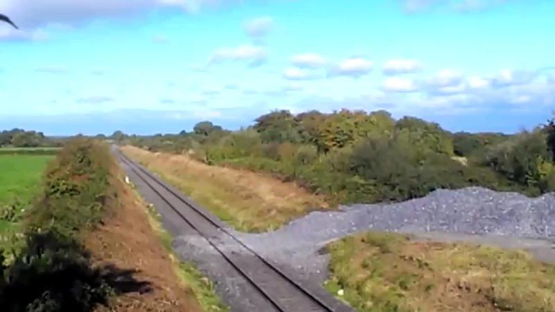 Video of 22009 + 22018 at Ballyavill. 0850 Westport - Heuston G.A.A. Special. Sun 22.09.13