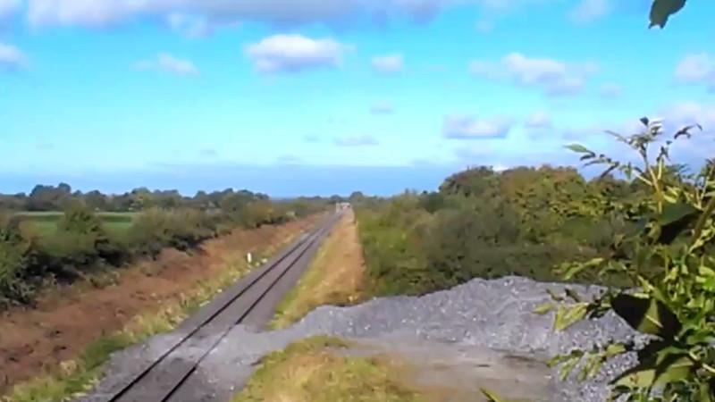 Video of 22053 + 22025 passing Ballyavill near Geashill. 0825 Westport - Heuston G.A.A. Special. Sun 22.09.13