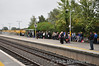 Passengers await the arrival of the 1815 Heuston - Westport service at Portarlington. This train was making an additional stop at the station during the National Ploughing Championships. Wed 25.09.13