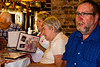 MaryTheresa, Mom and Ed check out the menu