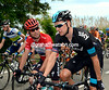 Mark Cavendish seems to be concerned about Wiggins well-being - the Sky rider looks a bit strained today...