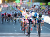 Andre Greipel wins the 2013 People's Classic from Goss with Greg Henderson celebrating just behind..!