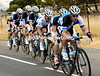 Team Blanco look as if they are doing a TTT - in fact Maarten Tjallingii is just pulling hard in front of the peloton..!