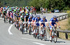 FDJ don't like Voeckler's plans - they chase him down, and quickly..!