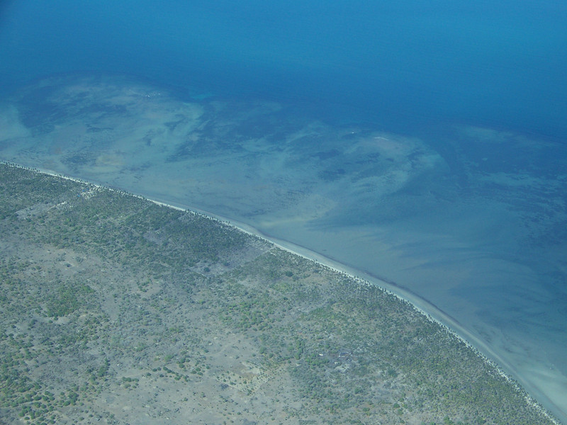 0970 - View of Approaching Coastline of Tanzania from ZanAir Flight from Arusha to Zanzibar - Tanzania.JPG