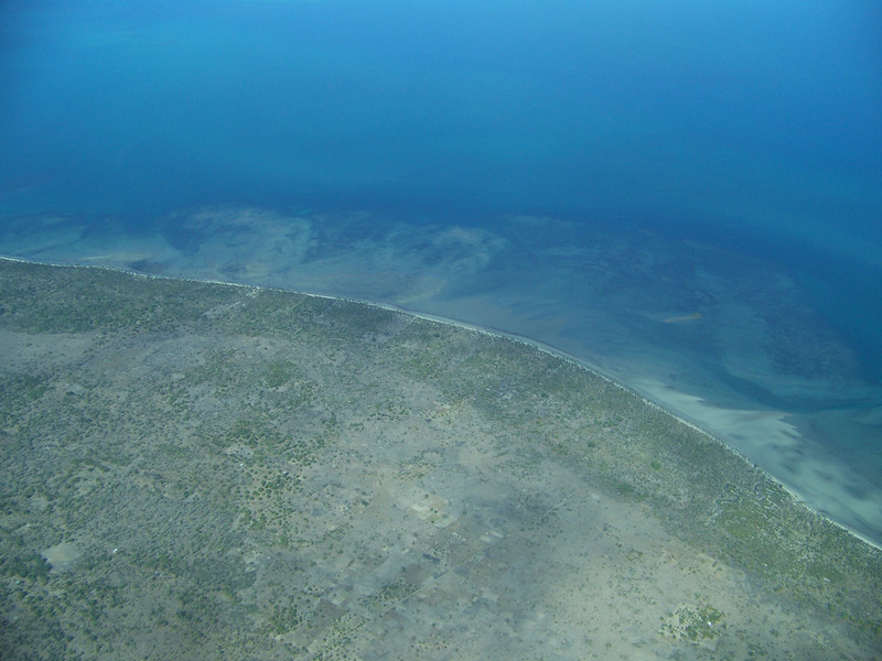 0969 - View of Approaching Coastline of Tanzania from ZanAir Flight from Arusha to Zanzibar - Tanzania.JPG
