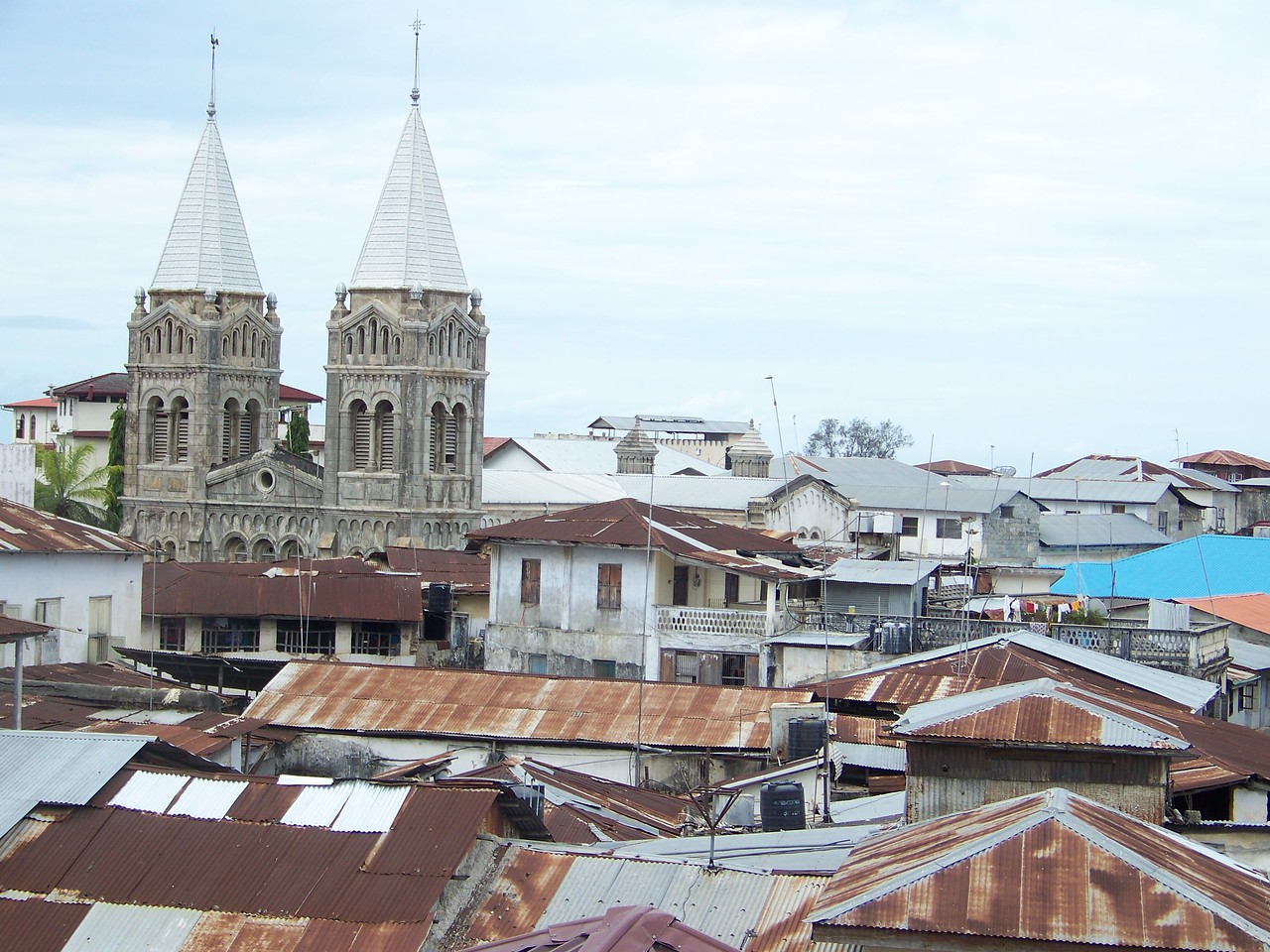 1003 - View Of Some Of Old Stone Town Section of Zanzibar - Zanzibar - Tanzania.JPG