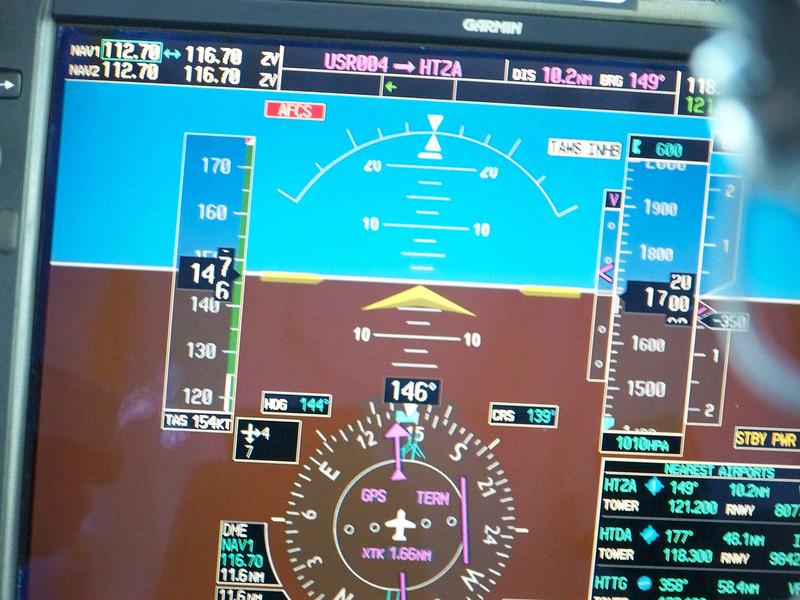 0975 - View of Cockpit Instrument on ZanAir Flight from Arusha to Zanzibar - Tanzania.JPG