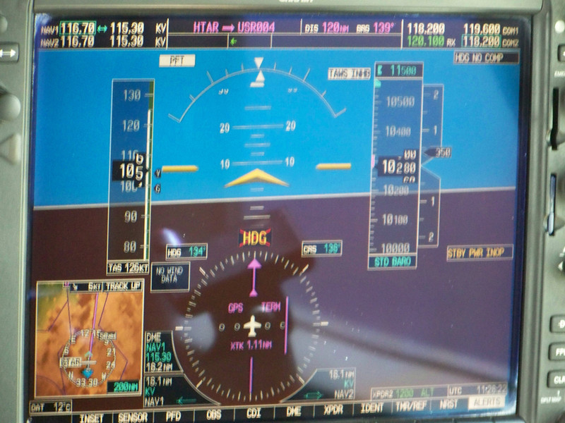 0963 - View of Cockpit Instrument on ZanAir Flight from Arusha to Zanzibar - Tanzania.JPG
