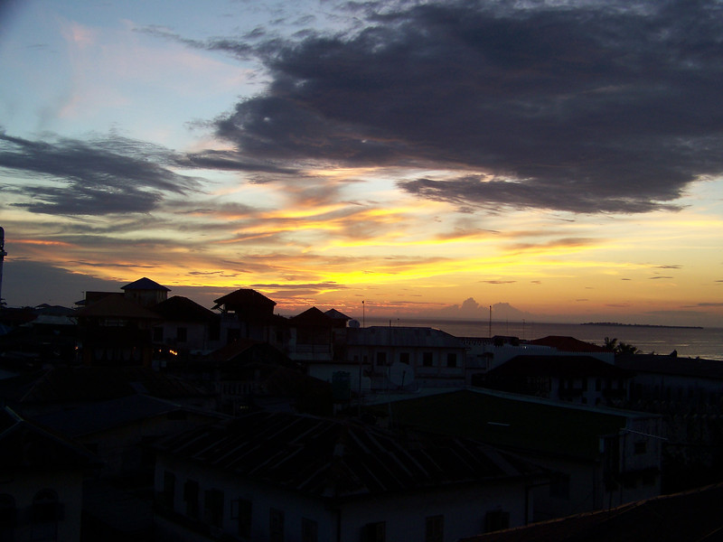 0995 - Sunset from Rooftop Bar at the Maru Maru Hotel - Zanzibar - Tanzania.JPG