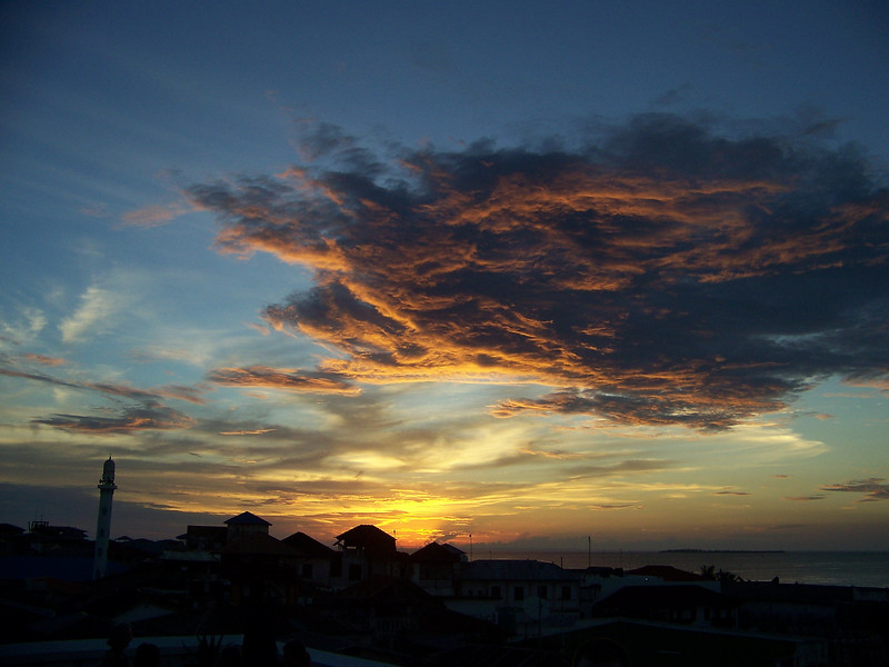 0993 - Sunset from Rooftop Bar at the Maru Maru Hotel - Zanzibar - Tanzania.JPG