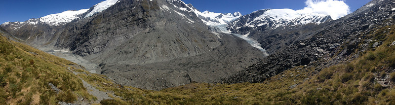 A panorama of the Dart Glacier and environs