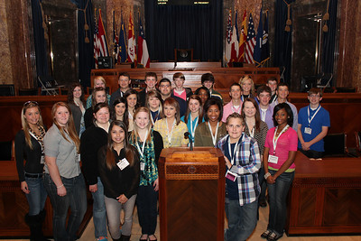 2013 YT winners in the Senate Chambers at the La. State Capitol