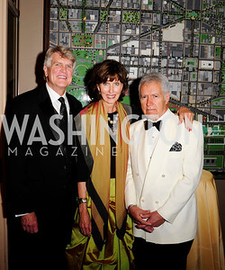 Boyd Matson,Betty Hudson,AlexTrebek,June 13.2013.125th Anniversary of National Geographic Explorers Gala  at The National Building Museum,Kyle Samperton