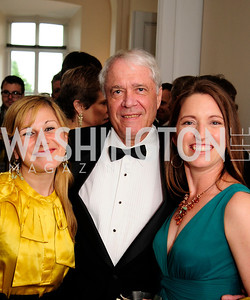 Vanessa Fajans-Turner,Johan Reinhard,Kathleen Schwille,June 13.2013.125th Anniversary of National Geographic Explorers Gala  at The National Building Museum,Kyle Samperton