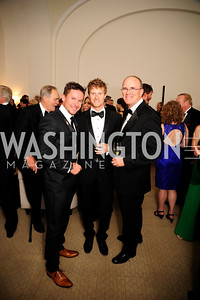 Felix Baumgartner,Cory Richards,Chris Johns,June 13.2013.125th Anniversary of National Geographic Explorers Gala  at The National Building Museum,Kyle Samperton
