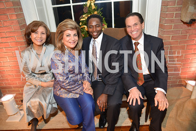 Keiko Kaplan, Annie Totah, Terrance Mason, Tony DiResta, S&R Foundation's Night Nouveau at the Evermay Estate.  Photo by Ben Droz
