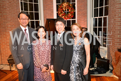 Mr. and Mrs. Minister Shotaro Yachi,  Ryo Yanagitani, Dr. Sachiko Kuno, S&R Foundation's Night Nouveau at the Evermay Estate.  Photo by Ben Droz