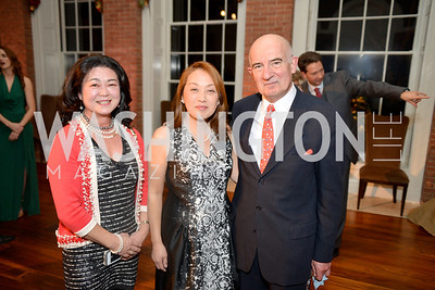 Yoko Eguchi, Jacques Sirvain, Dr. Sachiko Kuno S&R Foundation's Night Nouveau at the Evermay Estate.  Photo by Ben Droz