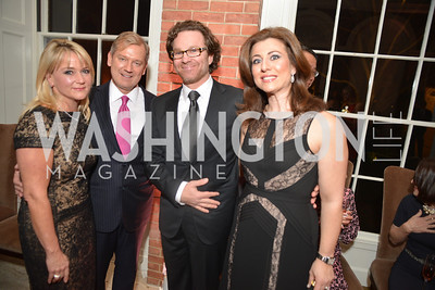 Mark McFadden, Lynn McFadden, Silvia Taylor, Abraham Taylor, S&R Foundation's Night Nouveau at the Evermay Estate.  Photo by Ben Droz