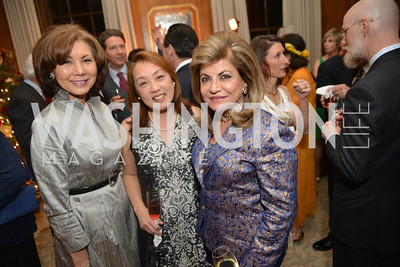 Keiko Kaplan, Dr. Sachiko Kuno,  Annie Totah, S&R Foundation's Night Nouveau at the Evermay Estate.  Photo by Ben Droz
