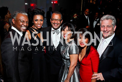Art and Sela Collins, Dwight and Toni Bush, Kristy and Howard Schiffman. Photo by Tony Powell. 2013 Alvin Ailey Gala. Kennedy Center. February 5, 2013