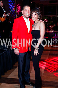 Roger and April Richmond. Photo by Tony Powell. 2013 Alvin Ailey Gala. Kennedy Center. February 5, 2013