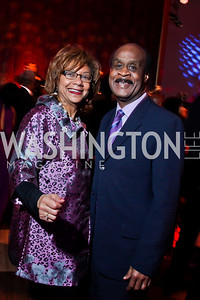 Catherine & Ike Leggett. Photo by Tony Powell. 2013 Alvin Ailey Gala. Kennedy Center. February 5, 2013
