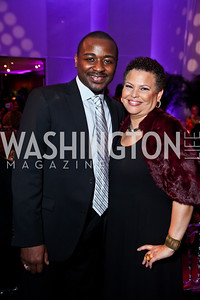 Artistic Director Robert Battle, Debra Lee. Photo by Tony Powell. 2013 Alvin Ailey Gala. Kennedy Center. February 5, 2013