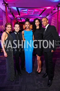 Ailey dancers Belen Pereyra, Kanji Segawa, Jacqueline Green, Alicia Graf Mack, Yannick Lebrun. Photo by Tony Powell. 2013 Alvin Ailey Gala. Kennedy Center. February 5, 2013