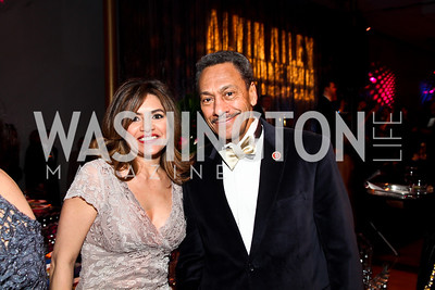 Susan Santana, Rep. Mel Watt. Photo by Tony Powell. 2013 Alvin Ailey Gala. Kennedy Center. February 5, 2013