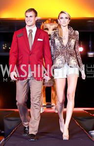 "Redskins quarterback Kirk Cousins, Kathleen Doyle. Photo by Tony Powell. Becky's Fund ""Walk this Way"" Fashion Show. Italian Embassy. November 8, 2013"
