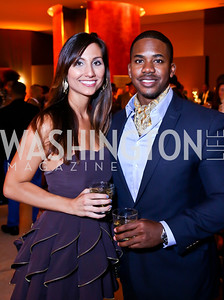 "Sarah Martin, Chad Booker. Photo by Tony Powell. Becky's Fund ""Walk this Way"" Fashion Show. Italian Embassy. November 8, 2013"