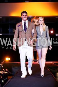 """Giuseppe Lanzone, Jamie Bowersox. Photo by Tony Powell. Becky's Fund """"Walk this Way"""" Fashion Show. Italian Embassy. November 8, 2013"""