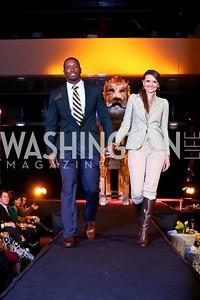 """Fred Davis, Jana Sedlakova. Photo by Tony Powell. Becky's Fund """"Walk this Way"""" Fashion Show. Italian Embassy. November 8, 2013"""