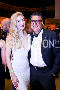 "Alexandra Senyi de Nagy-Unyom, Gino Galizia. Photo by Tony Powell. Becky's Fund ""Walk this Way"" Fashion Show. Italian Embassy. November 8, 2013"