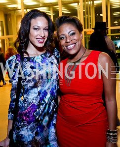 "Chandra Anderson, Adra Williams. Photo by Tony Powell. Becky's Fund ""Walk this Way"" Fashion Show. Italian Embassy. November 8, 2013"